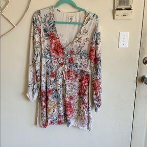Billabong Floral Long Sleeved Dress